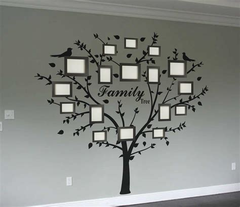 Tree Stickers For Walls family photo tree wall decal wall art decal sticker