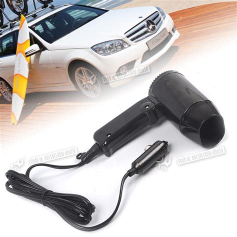 Hair Dryer Repair Car by 12 Volt In Car Hair Dryer Folding Handle Vehicle Power