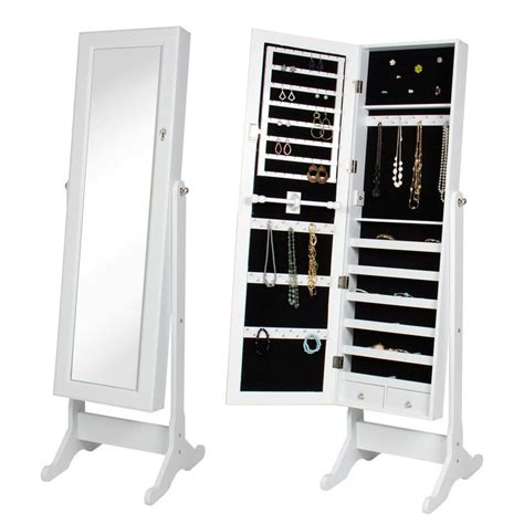 white standing jewelry armoire 25 best ideas about mirror jewelry armoire on pinterest