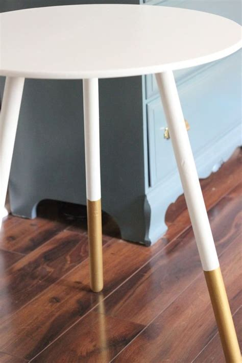 diy painted table legs diy gold dipped home accessories and decorations