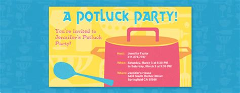 potluck email invitation template potluck free invitations