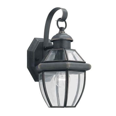 Forte Lighting Forte Lighting 1 Light Outdoor Wall Lantern In Royal