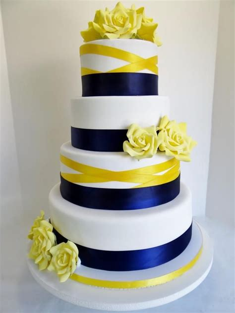 blue and yellow wedding cupcakes 25 best ideas about yellow wedding cakes on