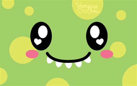 wallpaper of cute monster face luvs u wallpaper by virejaku deviantart