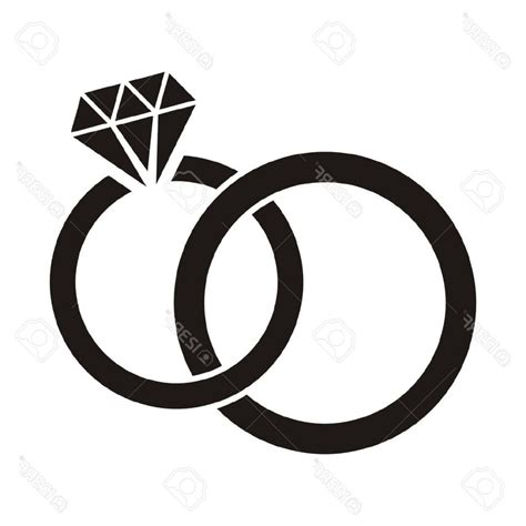 ring clipart black and white ring wedding