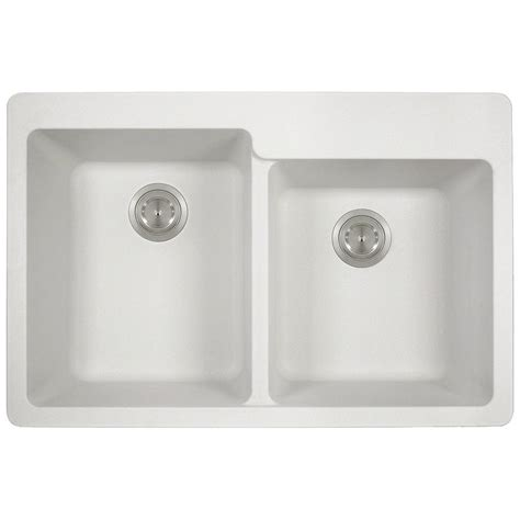 kitchen sinks direct mr direct drop in granite composite 33 in 3 hole offset