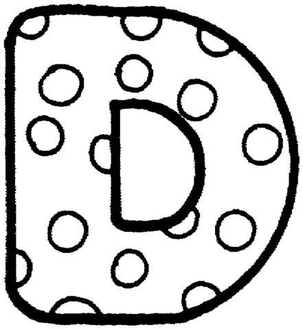 letter d coloring page supercoloring com
