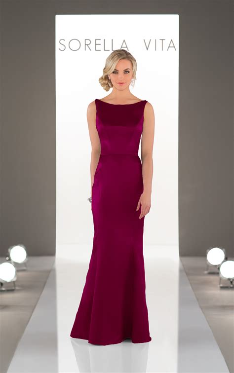 bridesmaid gowns classic satin bridesmaid dress