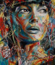 colorful portraits the explosively colorful spray paint portraits of david