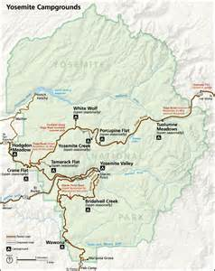 yosemite california map yosemite national park california national park service