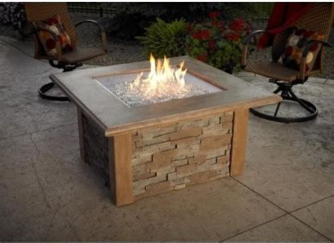 pit with square burner mocha contemporary