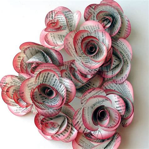 How To Make Handmade Paper Roses - 12 handmade paper roses