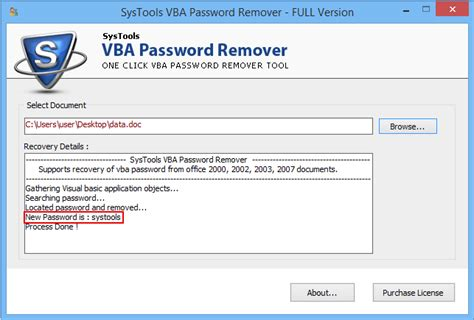 reset vba password proxoft reset vba password 5 15 4 26 crack full free download