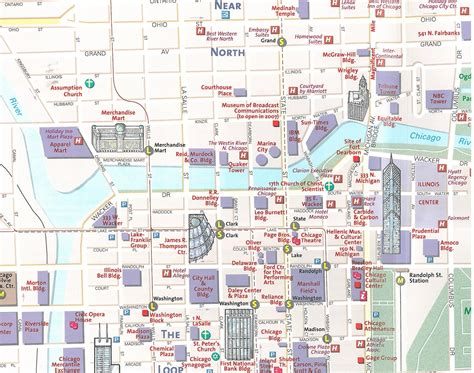 chicago city map chicago map guide