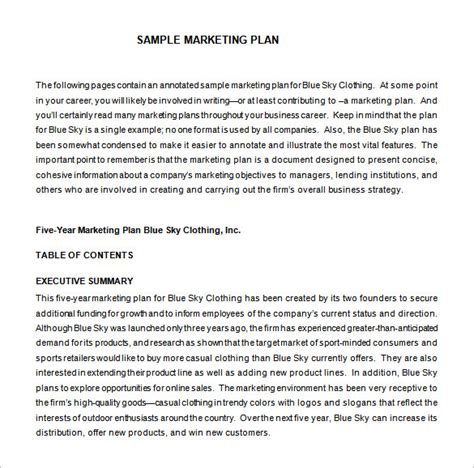 marketing proposal template 29 free sle exle