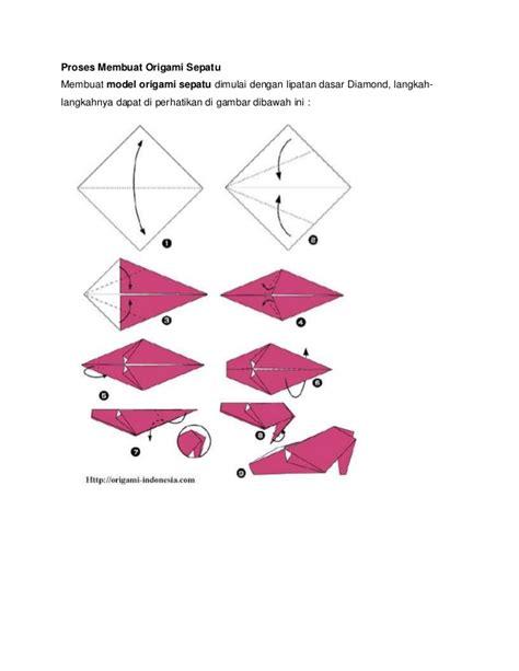cara membuat origami bunga sepatu cara membuat origami