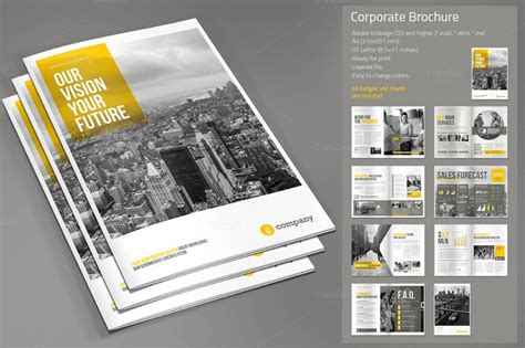 company brochure templates 70 modern corporate brochure templates design shack