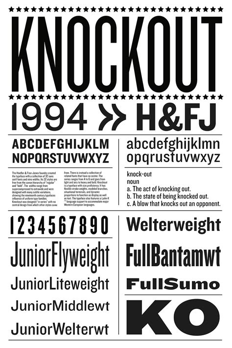 typography knockout august heffner s list of required typefaces