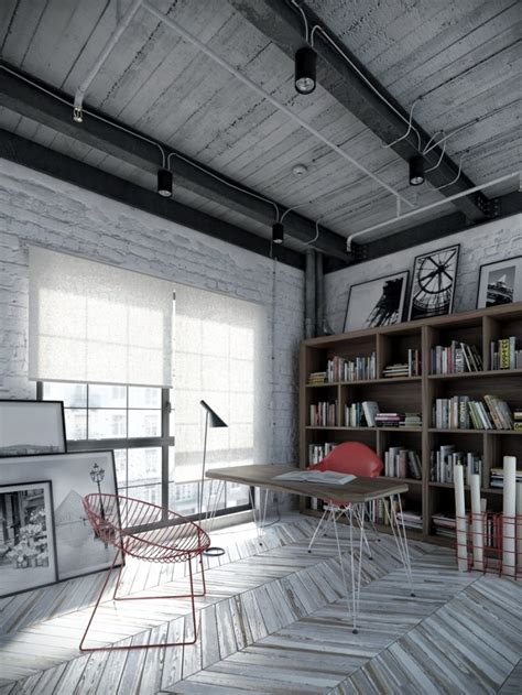 industrial home design uk the industrial style home office