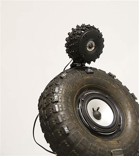 speaker system chiseled   recycled tires