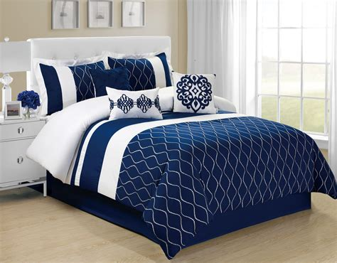 what will you get when choose queen size navy blue bedding