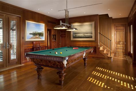 billiards room tropical andalusian home h allen inc interior design space planning studio gallery