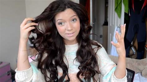 soft wavy curls with hot rollers for long hair short heated rollers for thick hair om hair