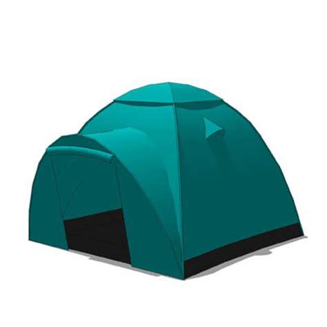 3 section tent 2 person tent 3d model formfonts 3d models textures