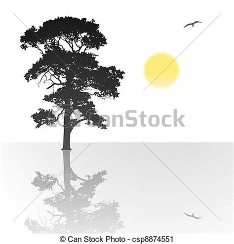 lone tree coloring page lonely tree drawing