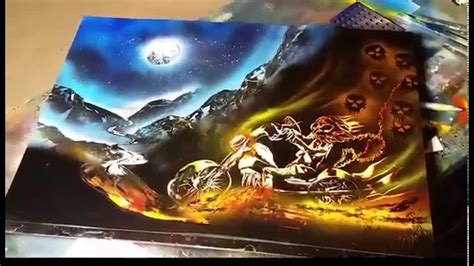 ghost rider spray art youtube