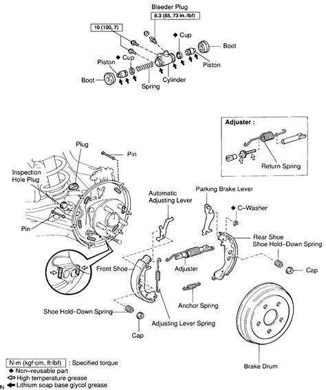 rear drum brake diagram brake drums rear diagram celica hobby