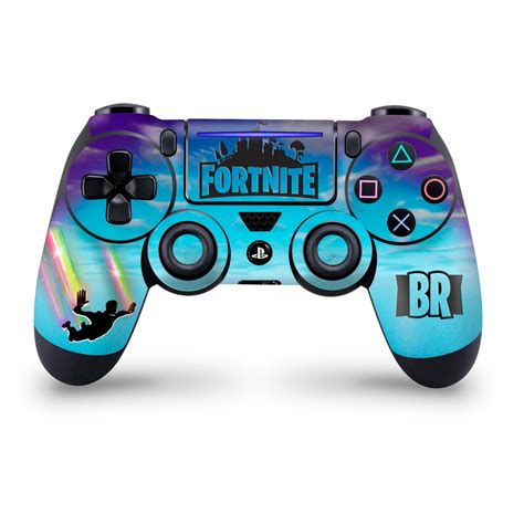 Ps4 Pro Fortnite Aufkleber by Stormy Sky Rainbow Trails Ps4 Pro Slim Controller Skin