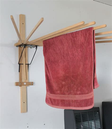 Wall Clothes Rack by Folding Umbrella Wall Clothes Drying Rack Amish Made Usa