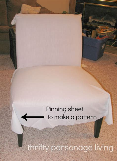 diy chair slipcover thrifty parsonage living diy chair slipcover