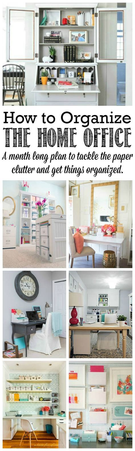 How To Organize A Home Office | the 2016 household organization diet clean and scentsible