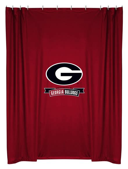 georgia shower curtain georgia bulldogs ncaa shower curtain