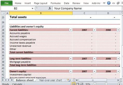 Download Editable Sle Balance Sheet For Excel Assets And Liabilities Template Free
