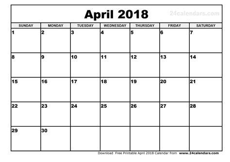 printable calendar 2018 april april 2018 calendar 2018 monthly calendar printable