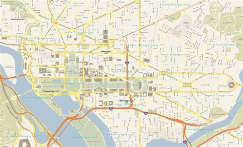 washington dc city layout map large detailed road map of washington d c washington d c
