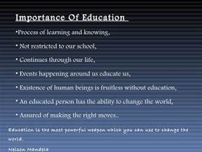 Education For Better Future Essay by Importance Of Education