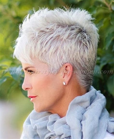short styles for thick grey hair short hairstyles over 50 spiky short hairstyle for grey