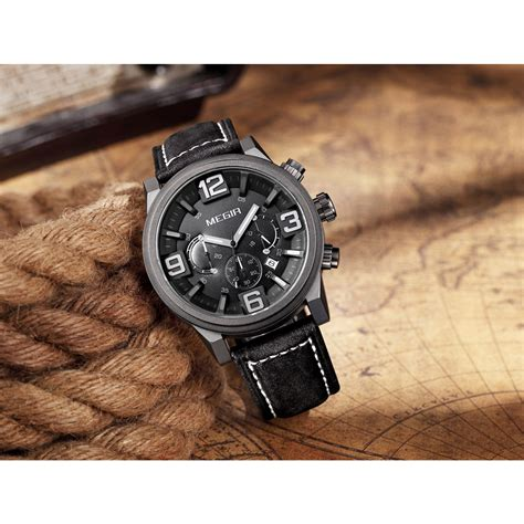 Jam Tangan The Leather Brown Black megir jam tangan analog ml3010g brown black jakartanotebook