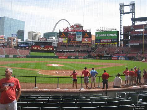 Section 150 Busch Stadium by Field Level Infield Busch Stadium Baseball Seating
