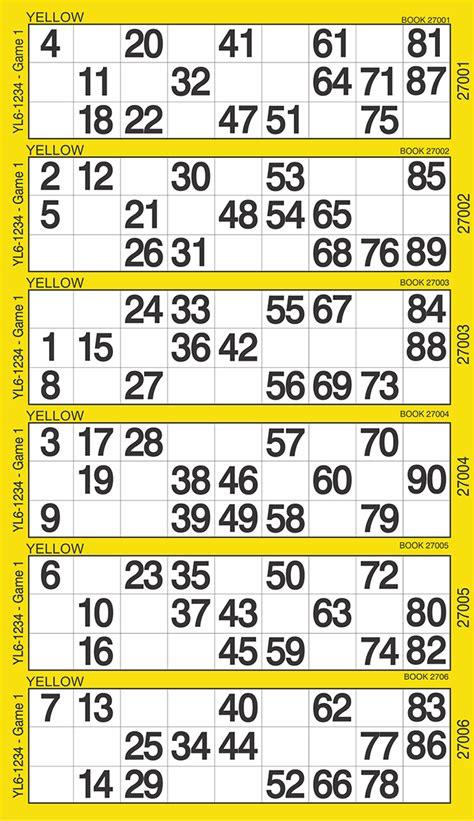 printable bingo tickets 1 90 english style bingo tickets bingo international