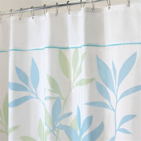 What Size Are Shower Curtains by Interdesign Leaves Shower Curtain Walmart