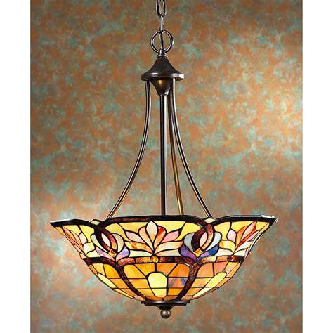tiffany 2 light baroque bronze hanging pendant l tiffany style ceiling pendant l bronze finish 528526