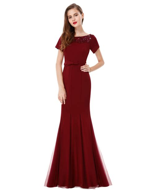 ebay womens dresses us women s elegant short sleeve long formal evening party