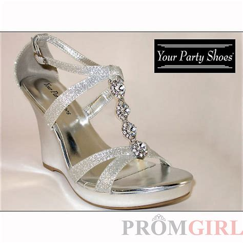 silver wedge dress shoes images