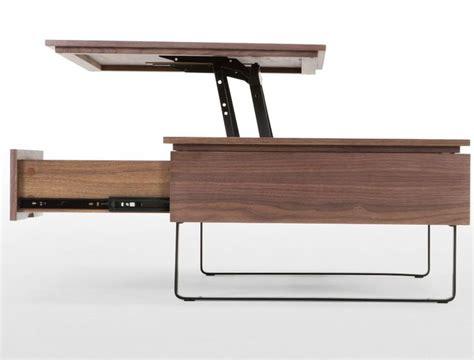 flippa functional coffee table with storage walnut