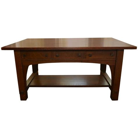charles limbert large library desk table circa 1905 for